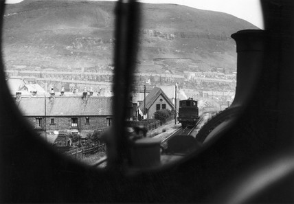 View from a steam locomotive, Wales, c 1949.