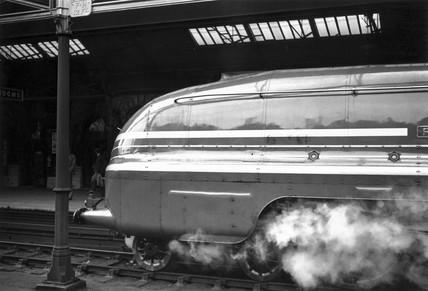 Coronation Class steam locomotive, Crewe Station, Cheshire, late 1930s.