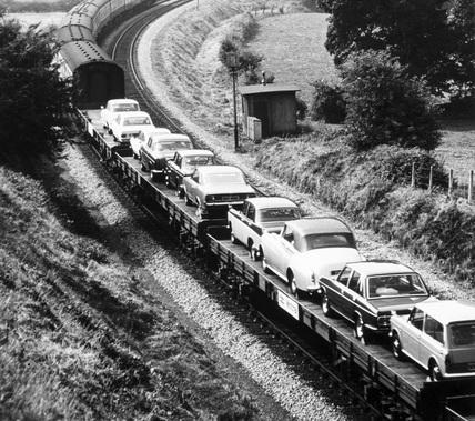 Motorail service, May 1977.
