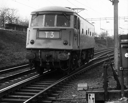 'Blue Line' train, March 1961.