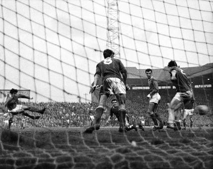 George Best shoots, 30 April 1964.