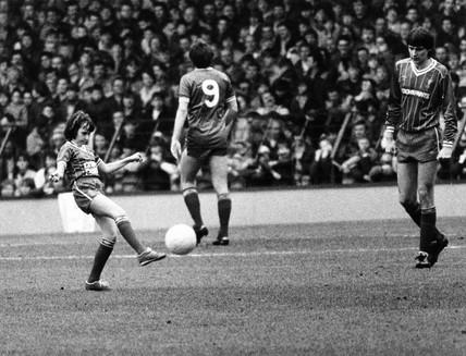 Erica Redmond, Liverpool mascot, Anfield, 10 March 1981.