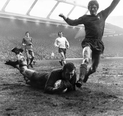 Bob Wilson saves, 30 January 1971.