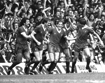 Liverpool players, 16 May 1982.