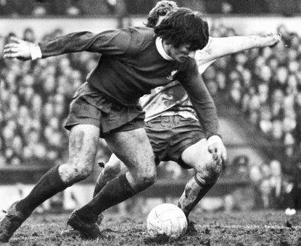 Tommy Smith of Liverpool, 12 February 1973.