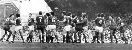Fight on the pitch, 20 October 1979.