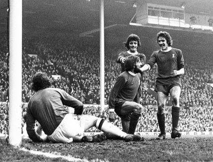 Liverpool v Manchester United, 1970s.