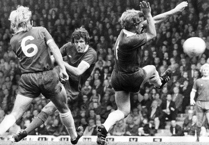 Liverpool v Birmingham City, 11 October 1975.