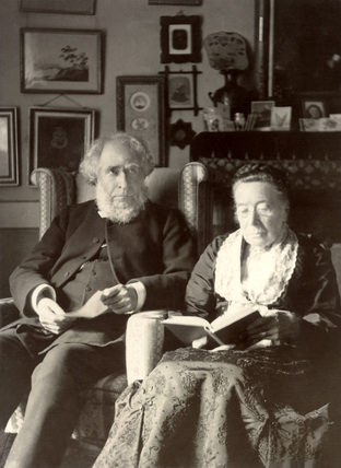 Old Victorian couple, late 19th century.