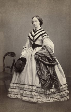 Victorian woman, mid-19th century.