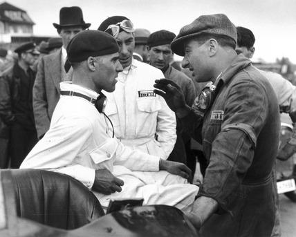 Tazio Nuvolari and Eugenio Siena, Berlin, 1933.