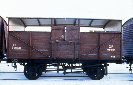 British Railways cattle wagon, 1951.