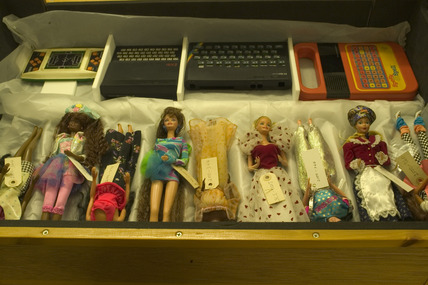 Plastic dolls, Science Museum, London, 2007.