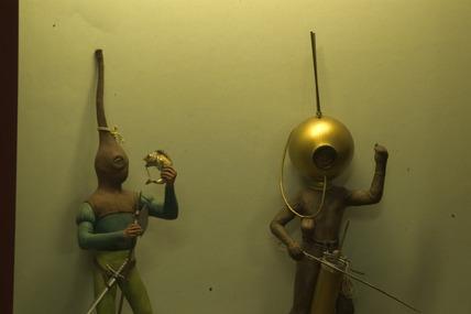 Diving apparatus models, Science Museum, London, 2007.