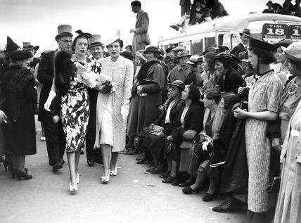 Fashions at the Royal Ascot Races, Berkshire, 15 June 1938.