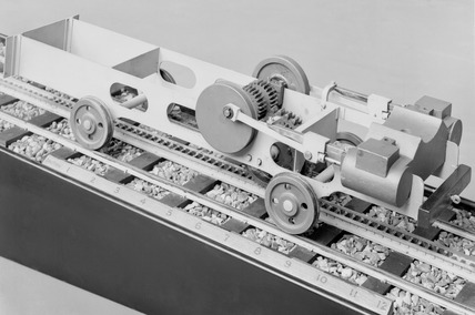 1:16 scale model of chassis of a