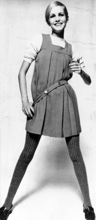 Twiggy, British fashion model, 1970.