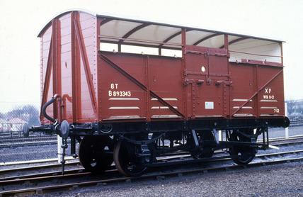 British Railways cattle wagon, 1951.