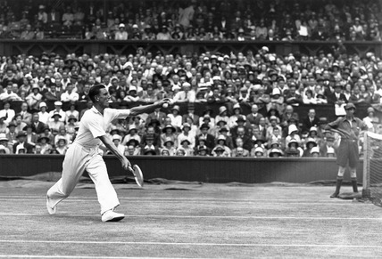 Fred Perry, Wimbledon Tennis Championship Tournament, 1 July 1931.