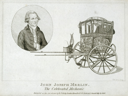 John Joseph Merlin, Belgian inventor and mechanic, c 1770.