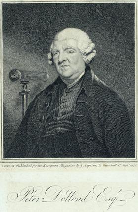 Peter Dollond, British optician, c 1800.