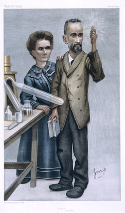 Pierre and Marie Curie, French physicists, c 1904.