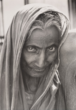 The partly blind wife of a beggar, East Pakistan, 1963.
