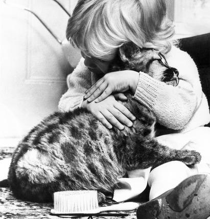 Girl with puma cub, November 1966.