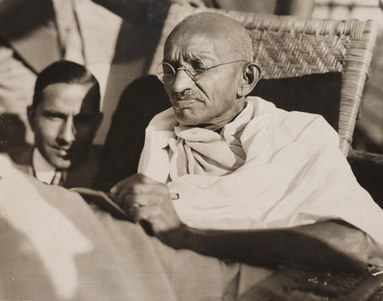 Mahatma Gandhi on board the SS 'Rajputana', 1931.