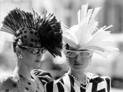 High-fashion hats, July 1985.