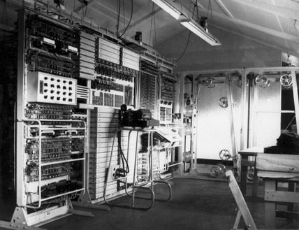 The 'Colossus' mark II computer, Bletchley Park, 1943.