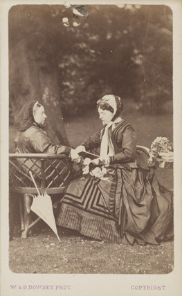Queen Victoria and companion, c 1870.