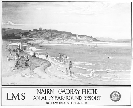 Nairn, Moray Firth, LMS railway poster, c 1928.