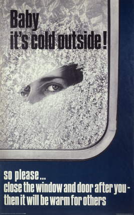 Baby its cold outside poster, 1969 (NRM / Pictorial Collection / Science & Society)