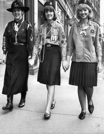 Quot Old And New Girl Guides Uniforms July 1965 Quot At Science And Society Picture Library
