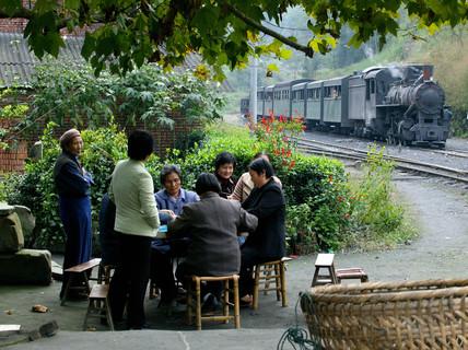 Mifengyan station, Baishi Railway, Sichuan province, China, 2003