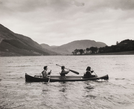 Canoeing on Buttermere on a girls' Outward Bound Course, 1954