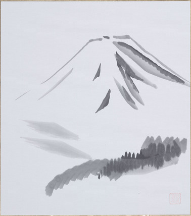 Robot art: Mount Fuji by The Dancing Lion (Komatsu RAL 10 robot), 1991.