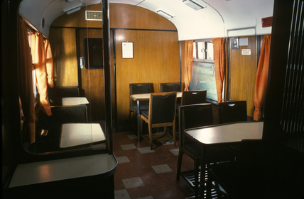 BR carriage, griddle car no.Sc 1100, 1960.