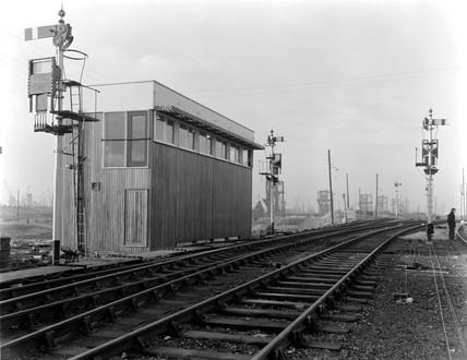 Danygraig signal box exterior 1959.
