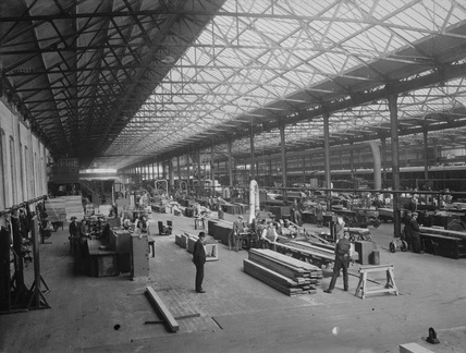 Sawmill at the Dunkinfield Carriage & Wagon Works, 1909.