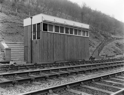 Hafodyrynys East signal box exterior. 1959