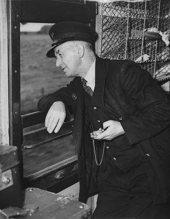 British Railways guard, 1951.