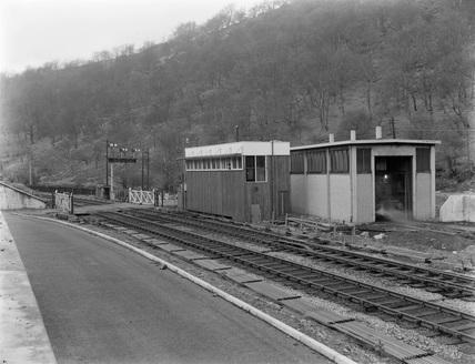 Hafodyrynys West signal box exterior 1959.