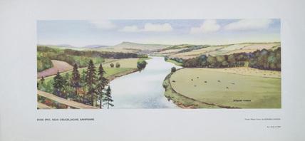 River Spey, near Craigellachie, Banffshire. BR (British Railway). Carriage Print.