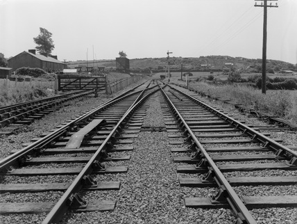 End of double line and commencement of contract and doubling