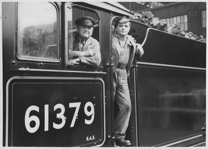 Driver and Fireman on B.1 No. 61379 'Mayflower'
