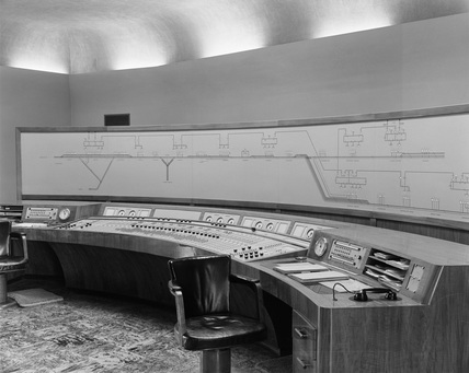 Control table at Penistone railway station.