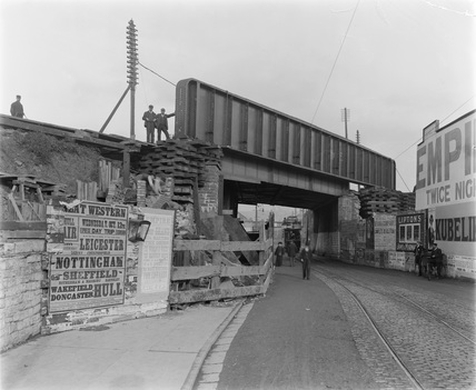 Newport, Caerleon Road Railway Bridge, 11th October 1904.