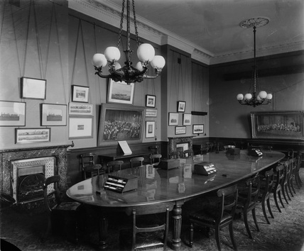 Traffic-Room Euston Station, 1897.